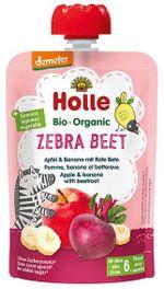 Пюре Zebra Beet с яблоком, бананом и свеклой с 8 месяцев Holle Bio Organic, 100 г