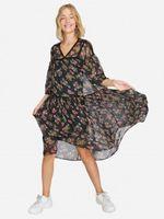 Платье Stradivarius Черный в цветочек 6378/694/001