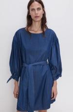 Платье ZARA Джинс/Синий 6164/165/407