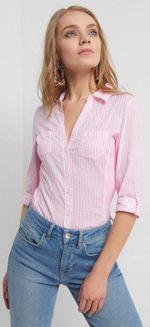Блуза ORSAY Розовый в полоску 660056