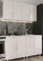Кухонный гарнитур Bafimob Mini (High Gloss) 1.4m White