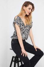 Блуза ORSAY Черно-белый