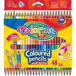 Двусторонние цветные карандаши, 24 шт. / 48 цветов COLORINO KIDS
