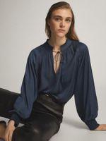 Блуза Massimo Dutti Синий 5101/520/485