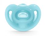 Пустышка силиконовая ортодонтическая NUK Sensitive (6-18 мес) blue