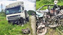 Mașină distrusă de TIR la Rezina: Un șofer a murit. Primele imagini