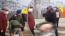 Protest la Giurgiulești: Un bărbat și-a dat jos pantalonii