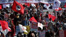 Portugalia: Protest împotriva şomajului şi privatizărilor