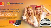 Moldindconbank și Mastercard te plimbă gratuit un an întreg cu taxiul Ⓟ