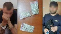 7 pachete cu droguri, depistate de carabinieri la 2 bărbați din Capitală
