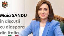 Președinta Maia Sandu a discutat cu diaspora din Italia