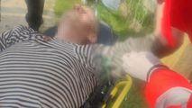 Un bărbat din Copanca a căzut de pe bicicletă peste un gard forjat