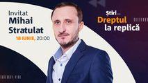 Mihai Stratulat, invitatul emisiunii Dreptul la Replică de la Știri.md