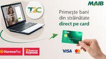 MAIB și Zolotaya Korona: Transferă bani din străinătate direct pe card Ⓟ