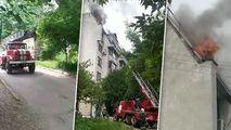 Incendiu, filmat la Buiucani: A ars o parte din mansarda unui bloc