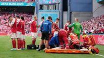 EURO 2020: Momentul în care Eriksen cade secerat. Starea fotbalistului