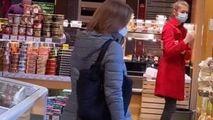 Președintele, la cumpărături: Cum a fost surprinsă Sandu într-un magazin