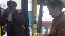Un bărbat a băut dezinfectant dintr-un troleibuz din Capitală