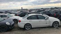 Parcarea unde 3.000 de BMW-uri și MINI stau abandonate din fabrică