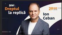 Ion Ceban, invitatul emisiunii Dreptul la Replică de la Știri.md