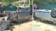 Un BMW s-a răsturnat la Hâncești: I-au sărit roțile. Primele imagini