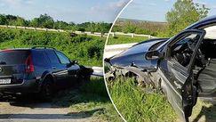 Mașină intrată în parapet la Chișinău: Explicația ciudată a șoferului