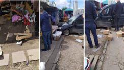 Mașină intrată în ghereta unei piețe din Chișinău: Explicația martorilor