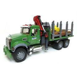 Лесовоз MACK с портативным краном и брёвнами, код 43252