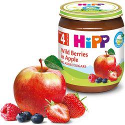 Piure de mere și fructe de pădure Hipp (4+ luni), 125g