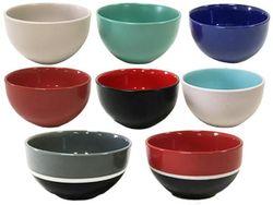 Салатница D14cm, разных цветов, керамика