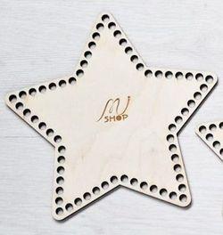 Formă din lemn stea, 20,5 cm