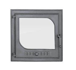 Дверца чугунная со стеклом левая TEAR