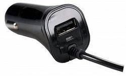 купить Аксессуар для автомобиля Partner 33116 microUSB 2в1 (+USB выход), 2.1А в Кишинёве