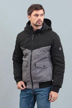 Куртка TOM TAILOR Черный/Серый 1004314.XX