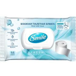 Влажная туалетная бумага Smile Fresh, 44 шт.