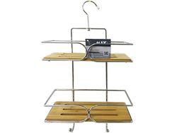 Raft portabil cu 2 nivele, lemn/metal