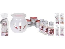 Set de aromaterapie (lampa/8 luminari/3 arome in sticla/4 arome in pachet)