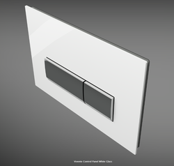 Vivente Control Panel White Glass