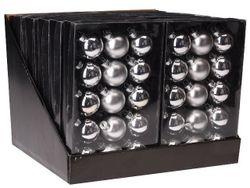Набор шаров 15X45mm, 5матов, 10глянц, серебряных, в коробке