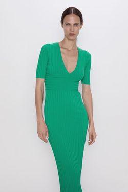 Платье ZARA Зеленый 3471/113/500