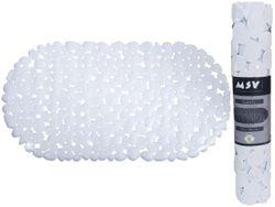 Коврик для ванны 39X99cm овал MSV Galets, белый, PVC