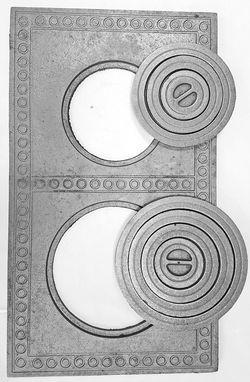 Плита с кольцами для печи 71*41*1,2 см