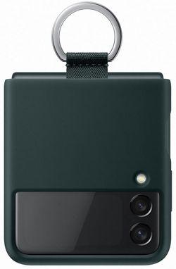 cumpără Husă pentru smartphone Samsung EF-PF711 Silicone Cover with Ring B2 Green în Chișinău