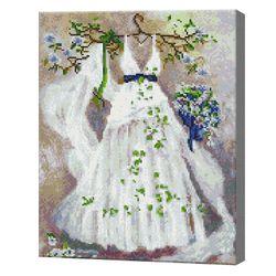 Белое платье, 40x50 см, алмазная мозаика Артукул: QA204365