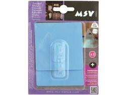 Крючки самоклеющиеся 2шт квадрат 8cm, голубые, пластик