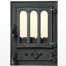 Дверца чугунная со стеклом Weekend - Panoramic mic