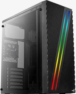 купить Корпус для ПК AeroCool Streak RGB BLACK USB 3.0 Mid Tower в Кишинёве