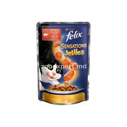 Felix Sensation с говядиной и томатами, в желе