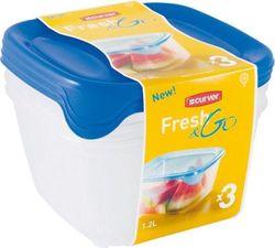 купить Контейнер для хранения пищи Curver 182220 FRESH&GO набор 1,2 л голубой в Кишинёве