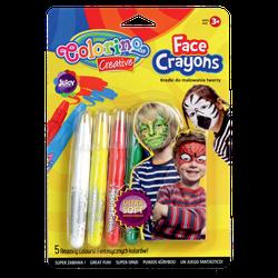 Мелки для лица  5 цв. Colorino